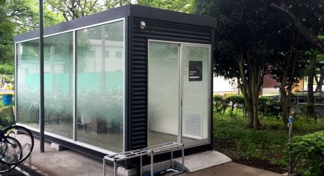 屋外喫煙ユニットハウス